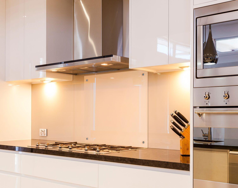 Küchenrückwand 6mm ESG Glas Klar Klarglas Spritzschutz Küche ...