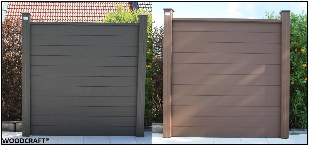 woodcraft wpc sichtschutz windschutz zaun gartenzaun sichtschutzzaun terrasse ebay. Black Bedroom Furniture Sets. Home Design Ideas