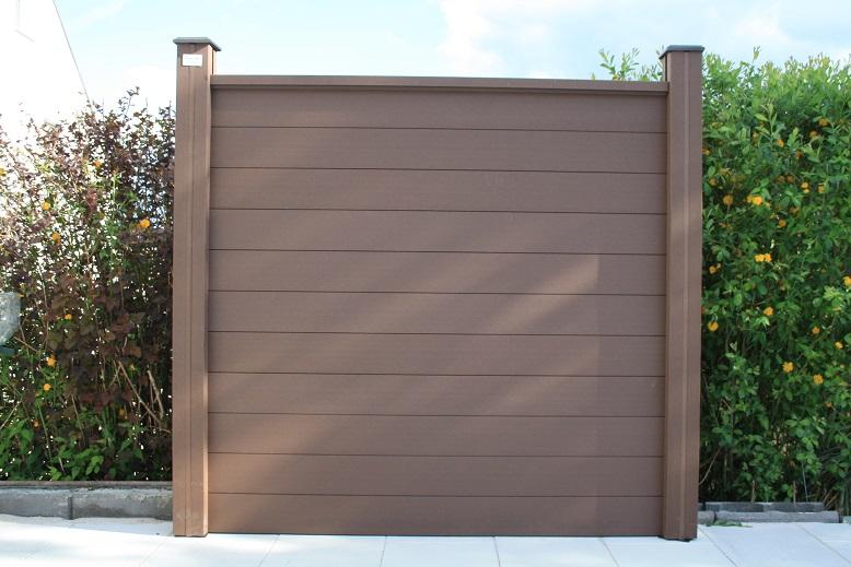 Woodcraft Wpc Sichtschutz Grau Braun Windschutz Zaun Gartenzaun
